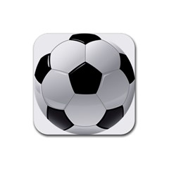 Soccer Ball Rubber Coaster (square)  by BangZart