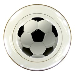 Soccer Ball Porcelain Plates by BangZart