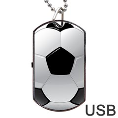 Soccer Ball Dog Tag Usb Flash (two Sides) by BangZart