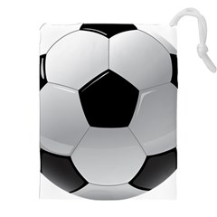 Soccer Ball Drawstring Pouches (xxl) by BangZart