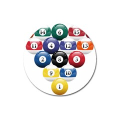 Racked Billiard Pool Balls Magnet 3  (round) by BangZart