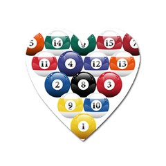 Racked Billiard Pool Balls Heart Magnet by BangZart