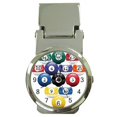 Racked Billiard Pool Balls Money Clip Watches by BangZart