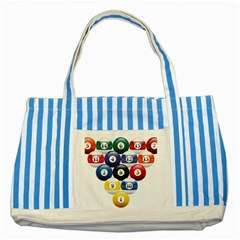 Racked Billiard Pool Balls Striped Blue Tote Bag by BangZart