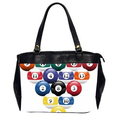 Racked Billiard Pool Balls Office Handbags (2 Sides)  by BangZart