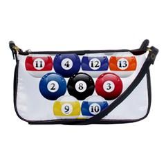 Racked Billiard Pool Balls Shoulder Clutch Bags by BangZart