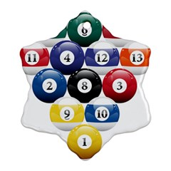 Racked Billiard Pool Balls Ornament (snowflake) by BangZart