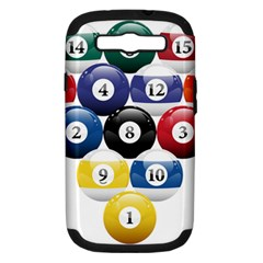 Racked Billiard Pool Balls Samsung Galaxy S Iii Hardshell Case (pc+silicone) by BangZart