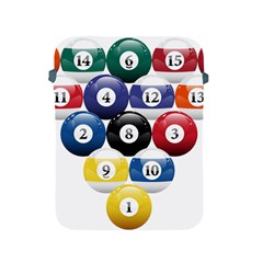 Racked Billiard Pool Balls Apple Ipad 2/3/4 Protective Soft Cases by BangZart