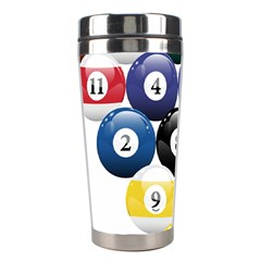 Racked Billiard Pool Balls Stainless Steel Travel Tumblers by BangZart