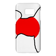 Japan Flag In Shiba Silhouette Samsung Galaxy S7 Hardshell Case  by TailWags