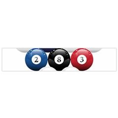 Racked Billiard Pool Balls Flano Scarf (small) by BangZart