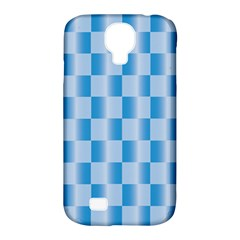 Blue Plaided Pattern Samsung Galaxy S4 Classic Hardshell Case (pc+silicone) by paulaoliveiradesign