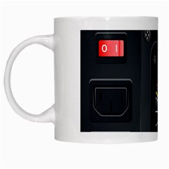 Special Black Power Supply Computer White Mugs by BangZart
