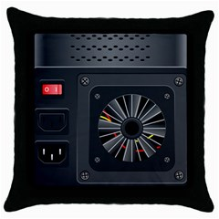 Special Black Power Supply Computer Throw Pillow Case (black) by BangZart