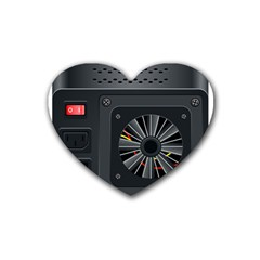 Special Black Power Supply Computer Heart Coaster (4 Pack)  by BangZart