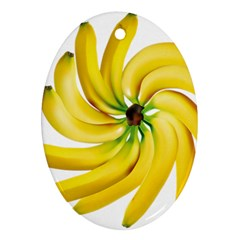 Bananas Decoration Ornament (oval) by BangZart
