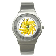 Bananas Decoration Stainless Steel Watch by BangZart