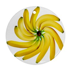 Bananas Decoration Round Ornament (two Sides) by BangZart