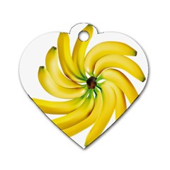 Bananas Decoration Dog Tag Heart (two Sides) by BangZart