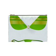 Green Swimsuit Cosmetic Bag (medium)  by BangZart
