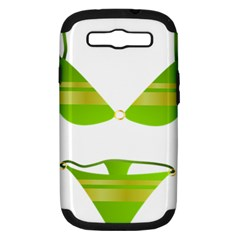 Green Swimsuit Samsung Galaxy S Iii Hardshell Case (pc+silicone) by BangZart
