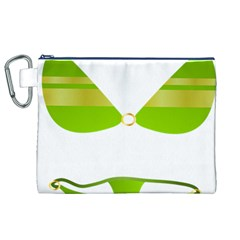 Green Swimsuit Canvas Cosmetic Bag (xl) by BangZart