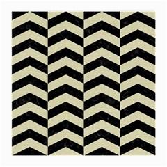 Chevron2 Black Marble & Beige Linen Medium Glasses Cloth by trendistuff