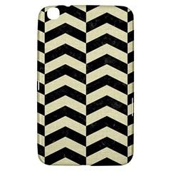 Chevron2 Black Marble & Beige Linen Samsung Galaxy Tab 3 (8 ) T3100 Hardshell Case  by trendistuff