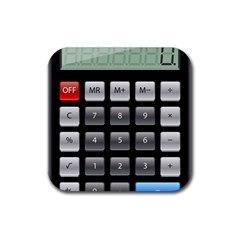 Calculator Rubber Square Coaster (4 Pack)  by BangZart