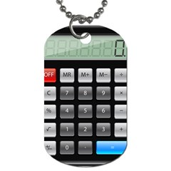 Calculator Dog Tag (two Sides) by BangZart