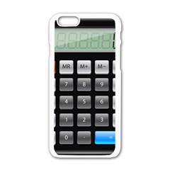 Calculator Apple Iphone 6/6s White Enamel Case by BangZart