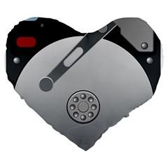 Computer Hard Disk Drive Hdd Large 19  Premium Heart Shape Cushions by BangZart