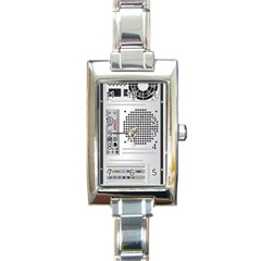 Standard Computer Case Back Rectangle Italian Charm Watch by BangZart