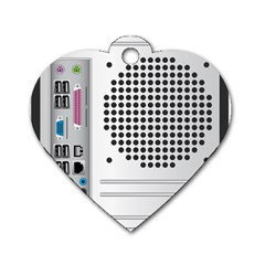 Standard Computer Case Back Dog Tag Heart (one Side) by BangZart