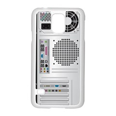 Standard Computer Case Back Samsung Galaxy S5 Case (white) by BangZart