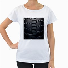 Tire Women s Loose Fit T Shirt (white) by BangZart