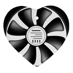 12v Computer Fan Heart Ornament (two Sides) by BangZart