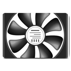 12v Computer Fan Large Doormat  by BangZart