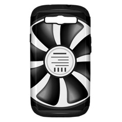 12v Computer Fan Samsung Galaxy S Iii Hardshell Case (pc+silicone) by BangZart