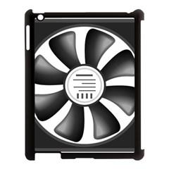 12v Computer Fan Apple Ipad 3/4 Case (black) by BangZart