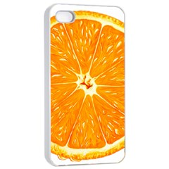 Orange Slice Apple Iphone 4/4s Seamless Case (white) by BangZart