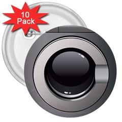 Washing Machine 3  Buttons (10 Pack)  by BangZart