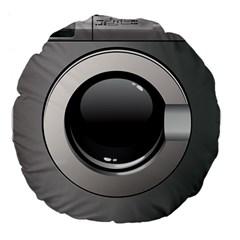 Washing Machine Large 18  Premium Flano Round Cushions by BangZart
