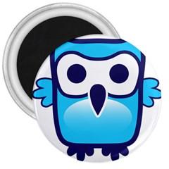 Owl Logo Clip Art 3  Magnets by BangZart