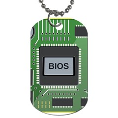 Computer Bios Board Dog Tag (two Sides) by BangZart