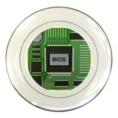 Computer Bios Board Porcelain Plates by BangZart