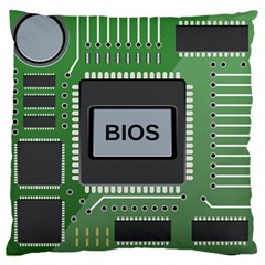 Computer Bios Board Large Cushion Case (one Side) by BangZart