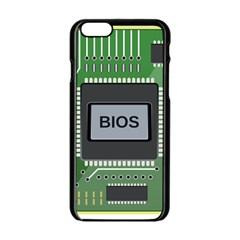 Computer Bios Board Apple Iphone 6/6s Black Enamel Case by BangZart