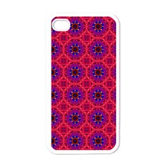 Retro Abstract Boho Unique Apple Iphone 4 Case (white) by BangZart